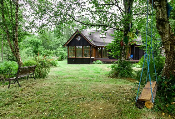 Exterior of Eco House in County Clare Ireland