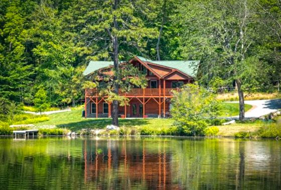 logfront log home in mills river nc